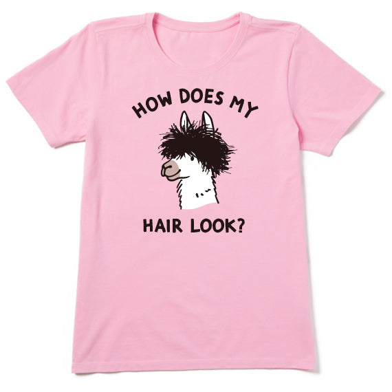 Women's Bad Hair Day Llama Tshirt