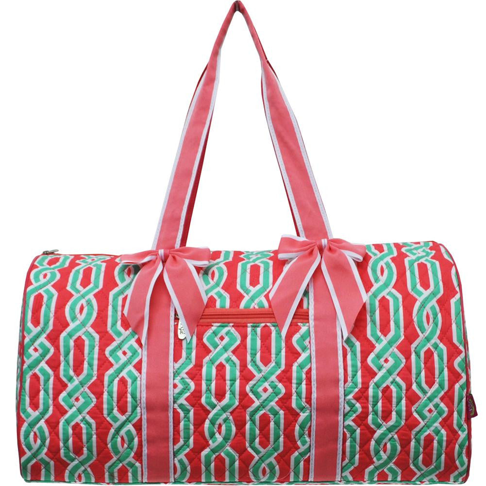 8b38768546d5 New vine print large quilted Duffel Bag – So Unique Gifts
