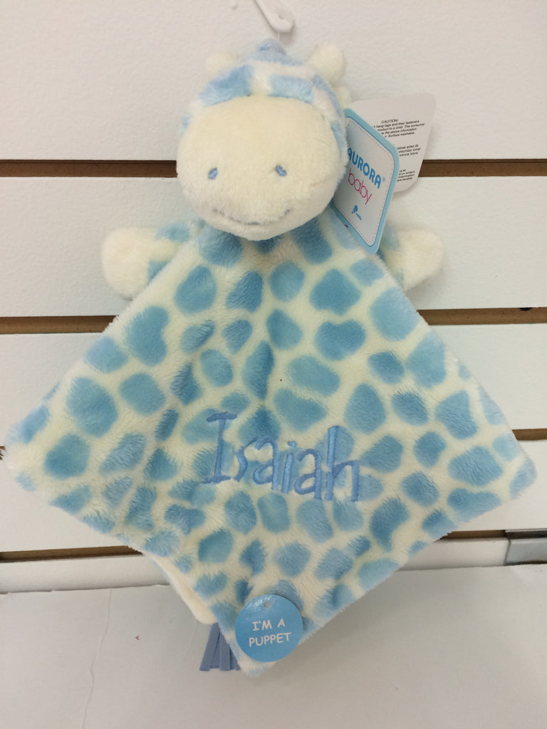 Gigi the Plush Blue Giraffe Baby Snuggler | Aurora