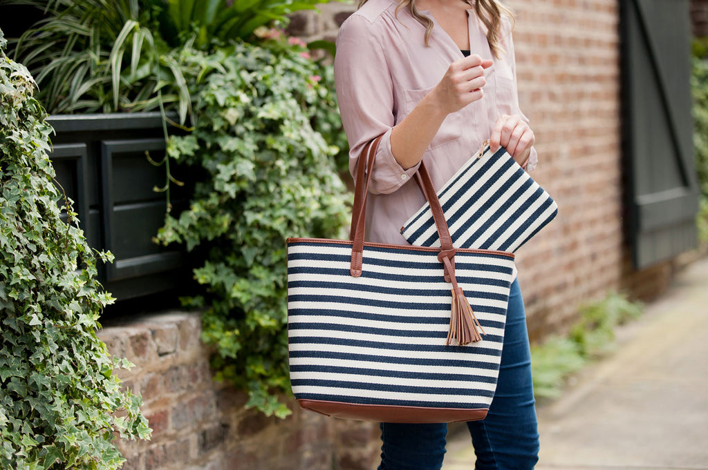 Chandler Stripe  Tote Bag
