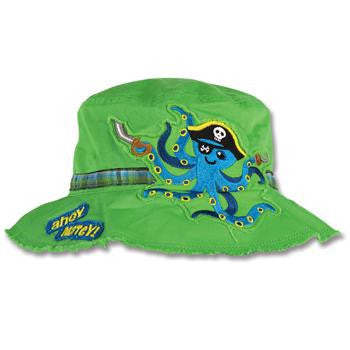 Kids bucket hat Stephen Joseph | Octopus Pirate