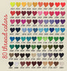 Souniquegifts.com offers 80 thread colors to choose from for your embroidery needs