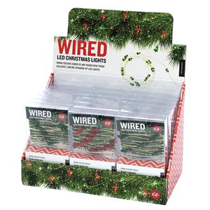 IS GIFT | Wired LED 2m Christmas LIghts Battery Operated
