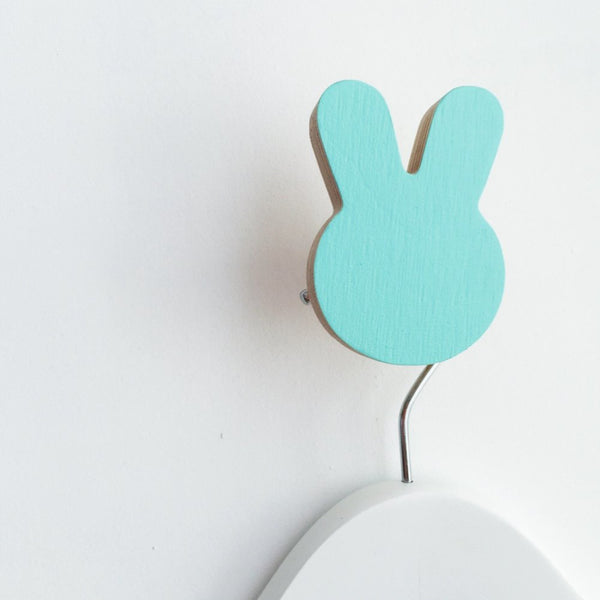 Knobbly Bunny Wall Hook - Minty