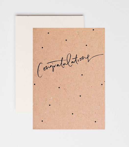 'Congratulations' Greeting Card by Jewel Paper Co.
