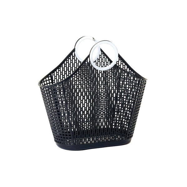 SUN JELLIES | Fiesta Shopper Basket - Small Black (WAREHOUSE SALE)