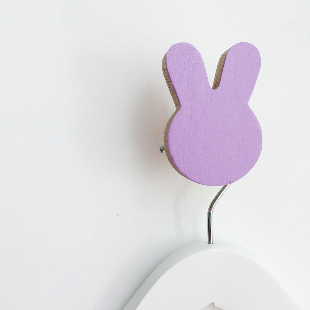Knobbly Bunny Wall Hook - Lavender