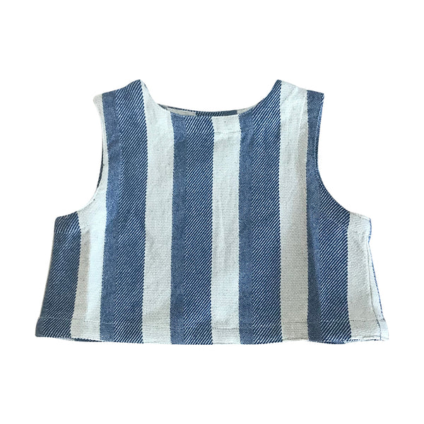 FEATHER DRUM | Bec Shell Top in Hamptons Stripe (LAST ONE SIZE 1)