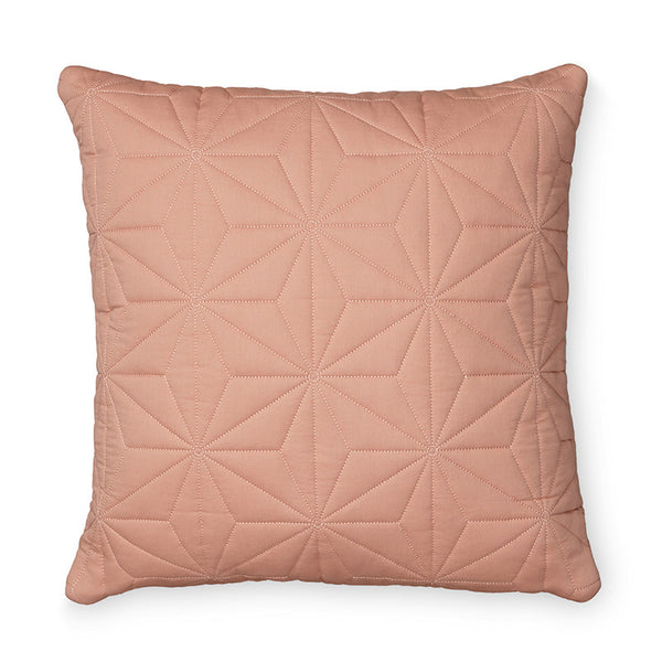 Cam Cam Quilted Cushion Cover - Square in Blush