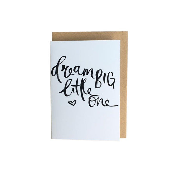 'Dream Big Little One' Greeting Card by Jewel Paper Co.