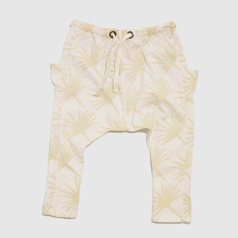 FEATHER DRUM | Woodstock Pants - Ivory Palms