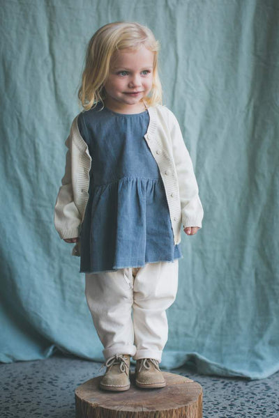 FEATHER DRUM | Whisper Adair Baby Cardigan