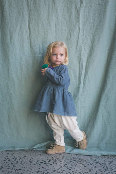 FEATHER DRUM | Bluemoon Eliza Baby Smock Top
