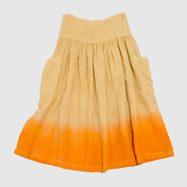 Feather Drum Annie Patch Pocket Skirt - Ombre