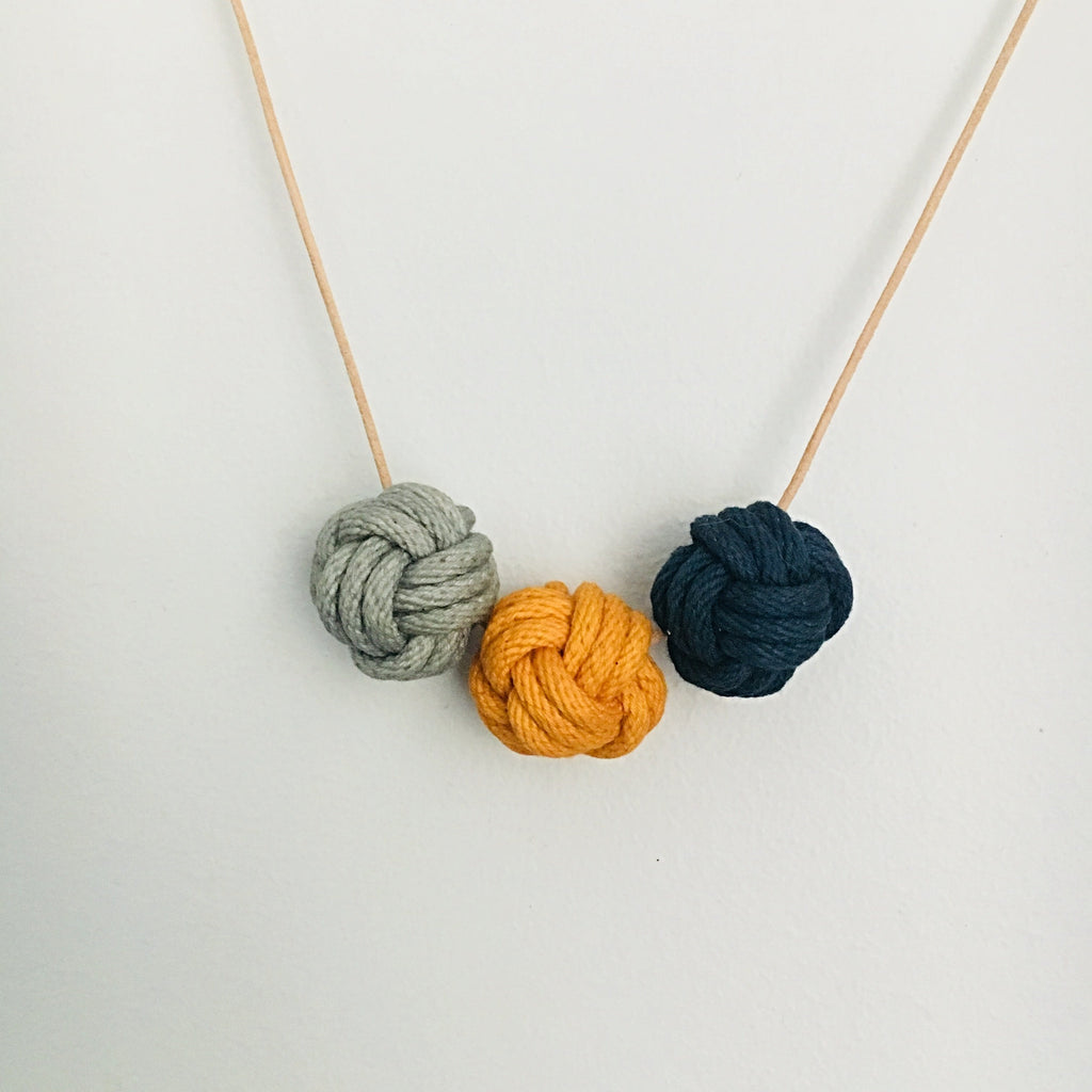 Crayon Chick Nautical Knot Necklace