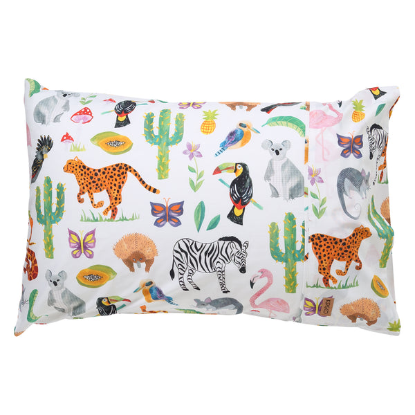 KIP & CO Single Pillow Case - In The Jungle (PRE-ORDER OCTOBER)