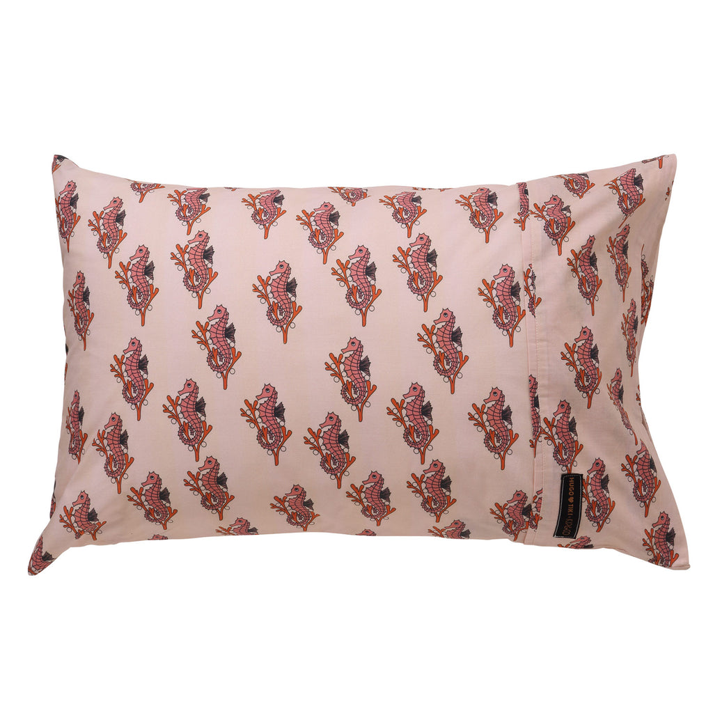 KIP & CO x HUGO LOVES TIKI | Seahorses Pillow Case (LAST ONE)