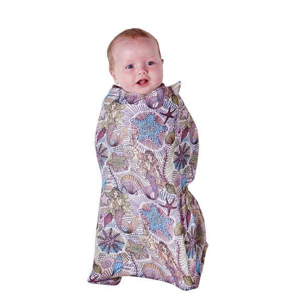 KIP & CO Bamboo Baby Wrap Swaddle - Neptune's Kingdom (PRE-ORDER OCTOBER)