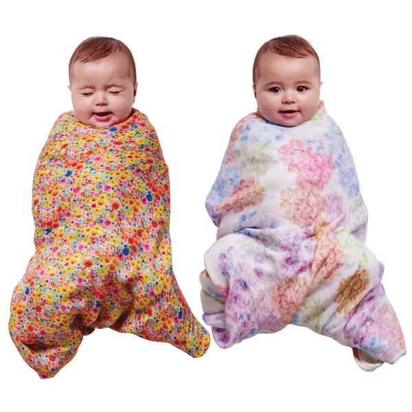 Kip & Co Bamboo Swaddle Set - Blooming Day & Hydrangeas