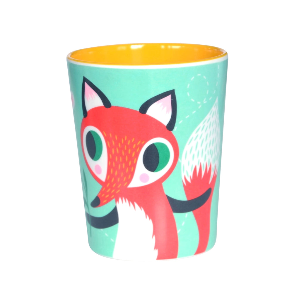 Fox & Rabbit Melamine Cup - Mint