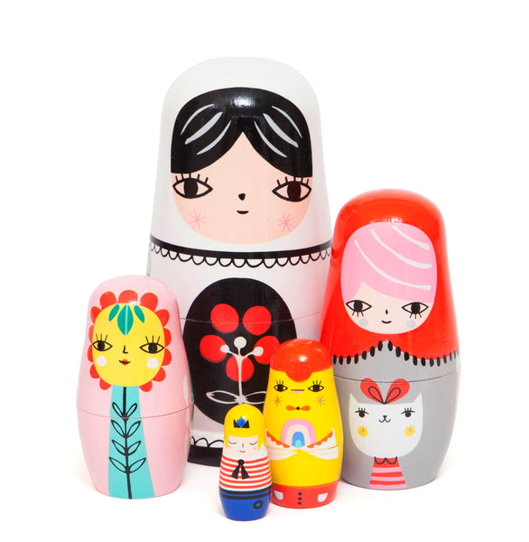 Sketch Inc. Fleur & Friends Nesting Dolls