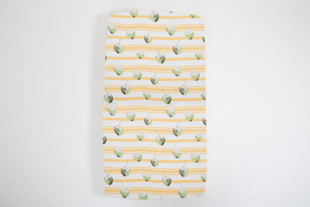 RISER Organic Cotton Fitted Cot Sheet - Coconut