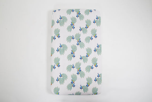 RISER Organic Cotton Fitted Cot Sheet - Peacock