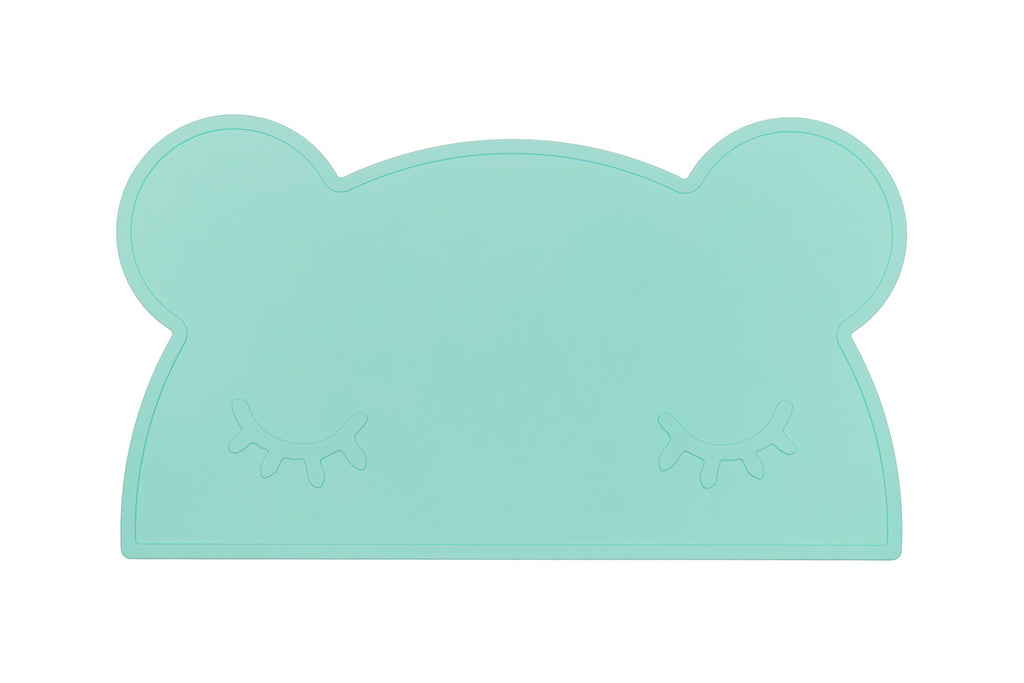 We Might Be Tiny Bear Placemat - Mint Green