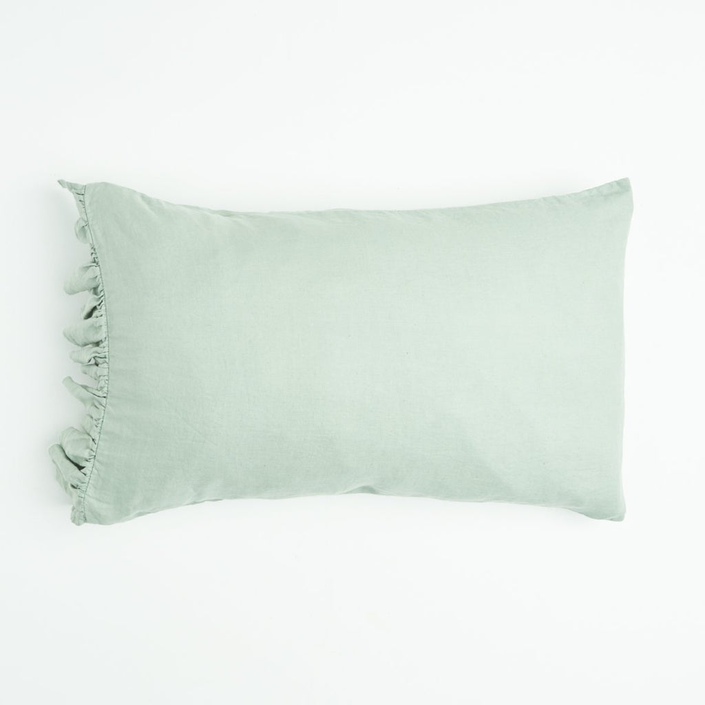 SOCIETY OF WANDERERS | Wasabi Ruffle Pillow Case Set