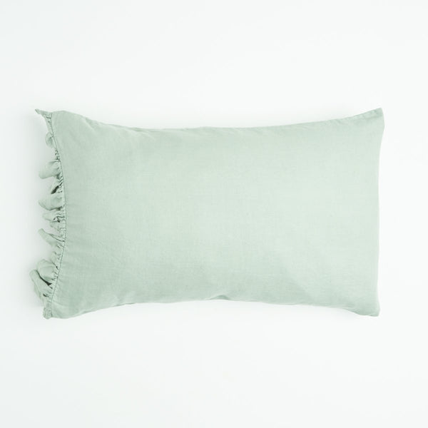SOCIETY OF WANDERERS | Wasabi Ruffle Pillow Case Set (PRE-ORDER EARLY NOVEMBER)