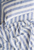 SOCIETY OF WANDERERS | Chambray Stripe Pillow Case Set | Standard or Euro or Ruffle
