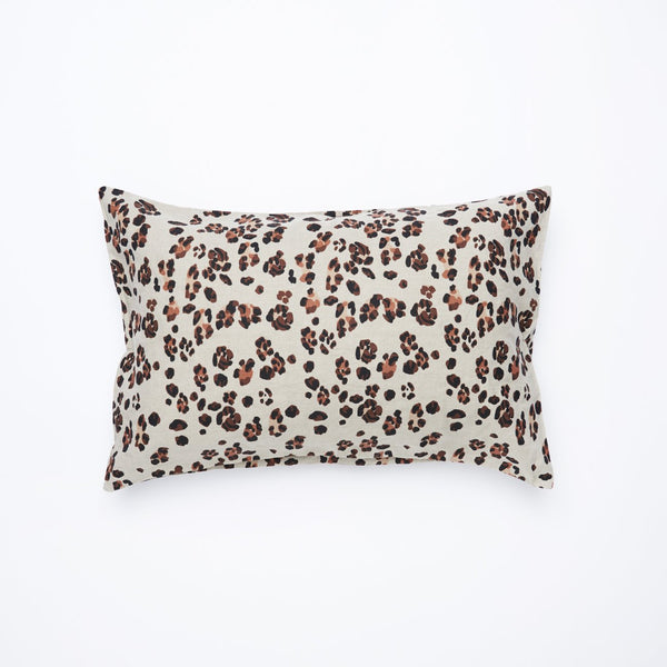 Society of Wanderers Leopard Linen Standard Pillow Case Set