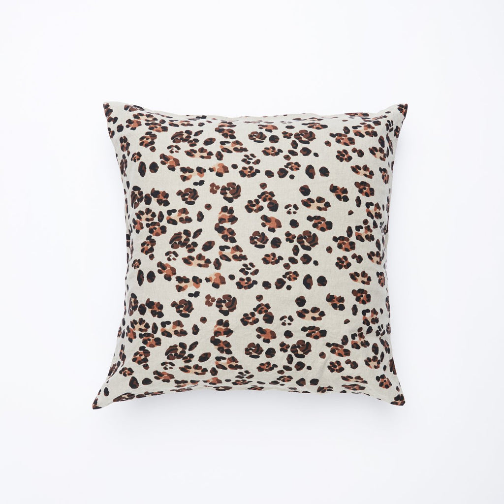 Society of Wanderers Leopard Linen European Pillow Case Set