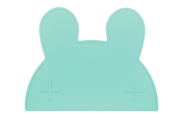 We Might Be Tiny Bunny Placemat - Minty Green