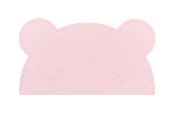 We Might Be Tiny Bear Placemat - Powder Pink