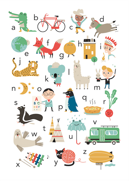 PETIT MONKEY | ABC Poster by Studio Makii
