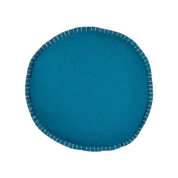 PLAY Sage & Clare Rylie Round Cushion - Peacock