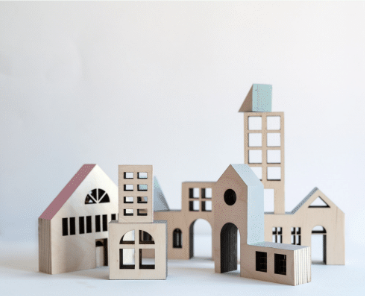 KOLEKTO | STORIES IN STRUCTURES | Kobenhavn Wood Building House Blocks & Puzzle
