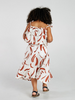 MAD ABOUT MINI | Painted Stripe Tier Midi Dress - Terracotta