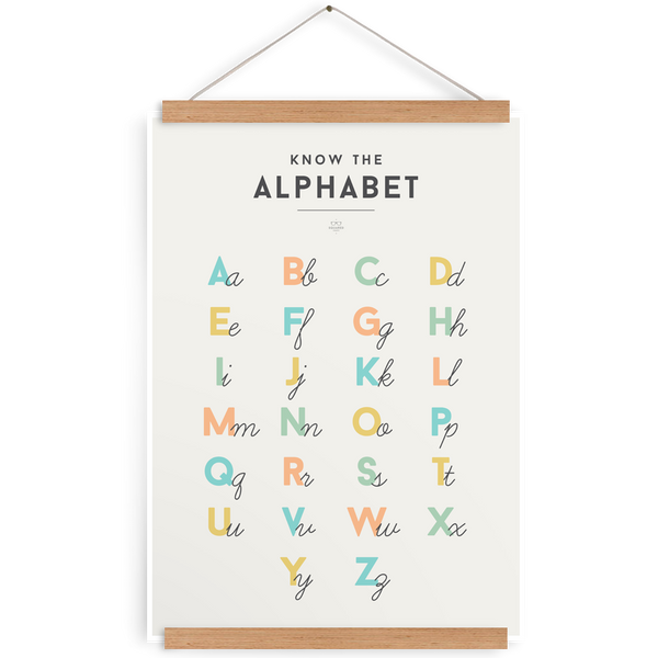 SQUARED Alphabet Poster (WAREHOUSE SALE)