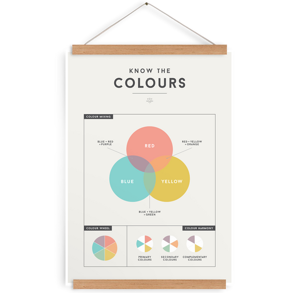 SQUARED Colours Poster (WAREHOUSE SALE)