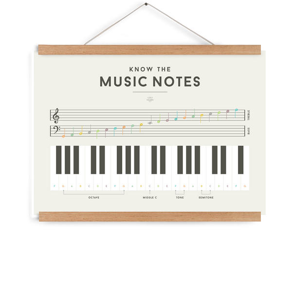 SQUARED Music Notes Poster (WAREHOUSE SALE)