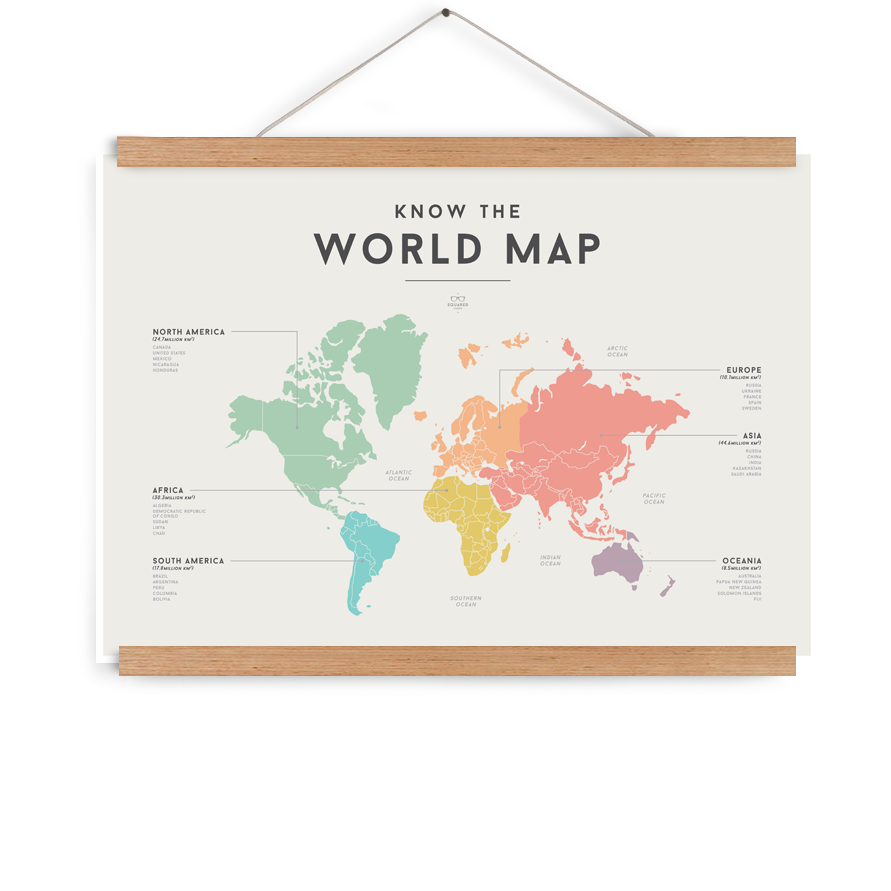 World Map by We Are Squared