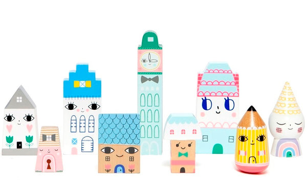 PETIT MONKEY | Suzy's City Wooden houses by Suzy Ultman