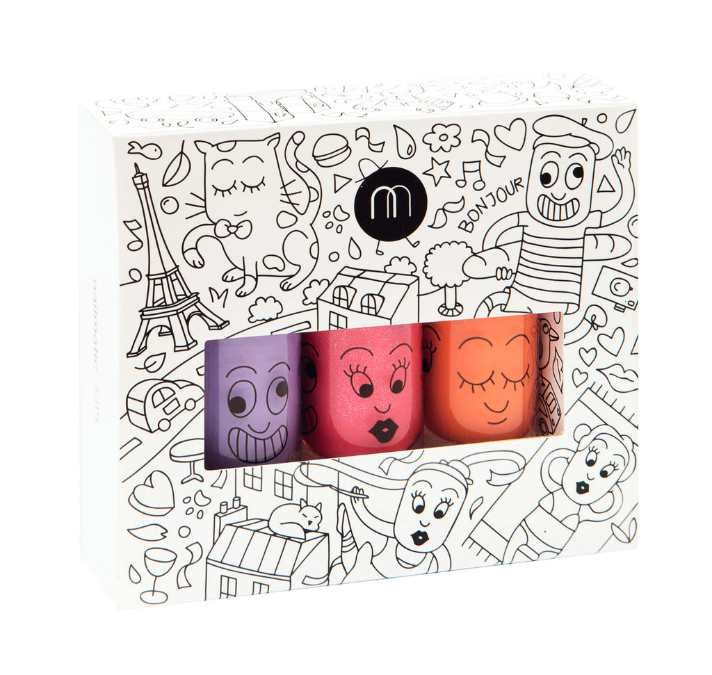 Nailmatic Kids Nail Polish Pack of 3 - City