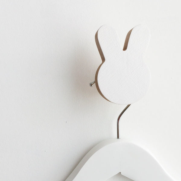 Knobbly Bunny Wall Hook - White