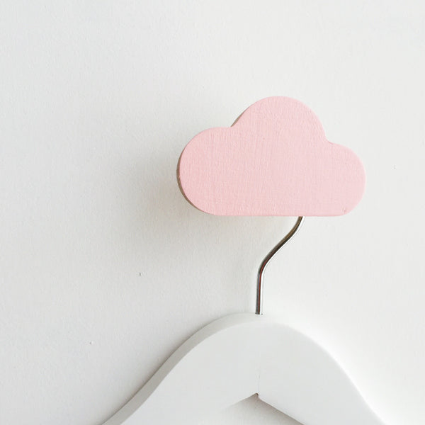 Knobbly Cloud Wall Hook - Ballerina Pink