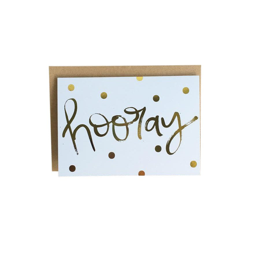 'Hooray' Greeting Card by Jewel Paper Co.
