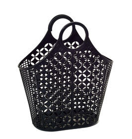 SUN JELLIES | 'Dahlia' Atomic Tote - Large Black