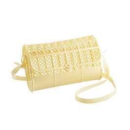 Sun Jellies Cross Body Satchel Purse - Light Yellow